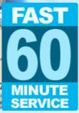 Fast 60 minute service